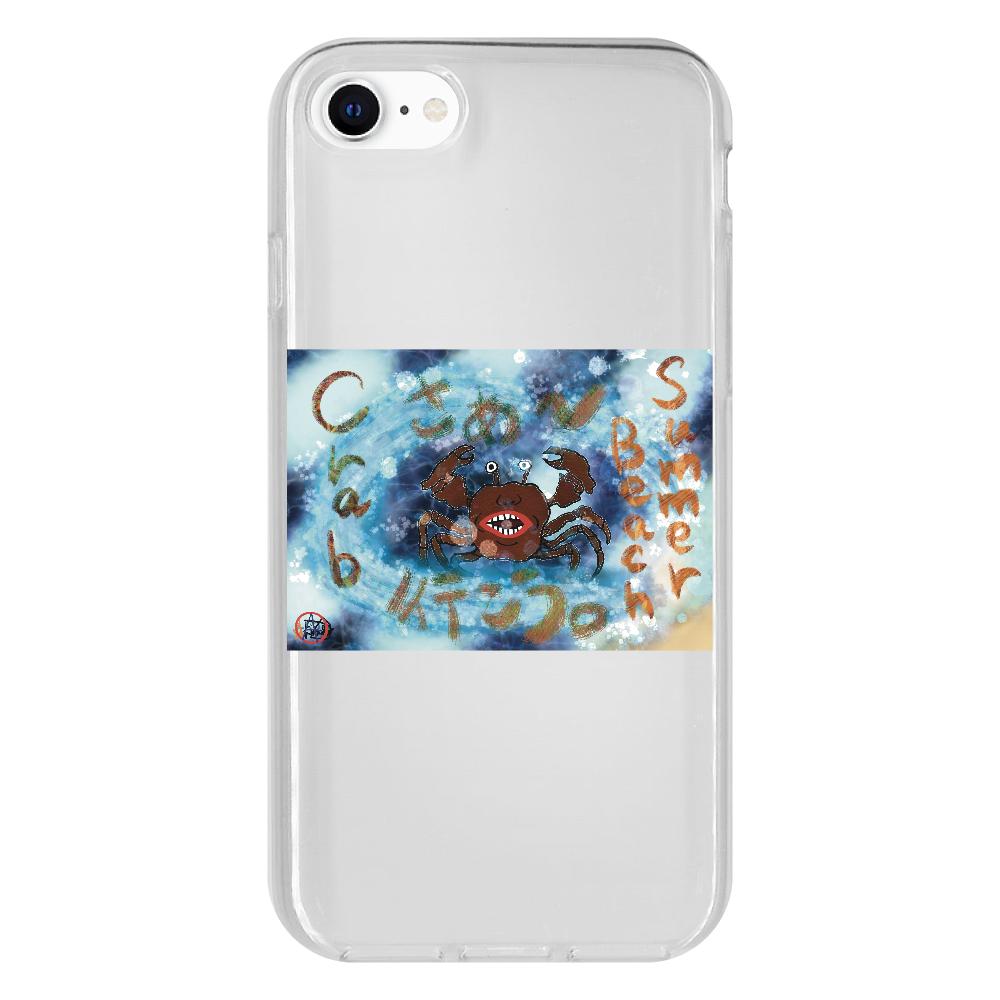 夏のビーチ「カニ」 ORILAB MARKET.Version.9 iPhone SE2 抗菌ソフトケース