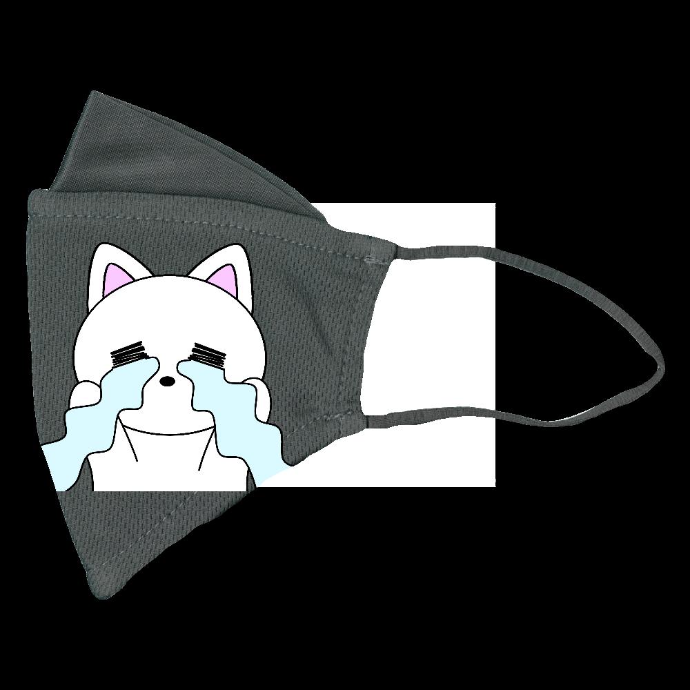 号泣!猫ちゃん ぴったりフィットマスク(接触冷感)
