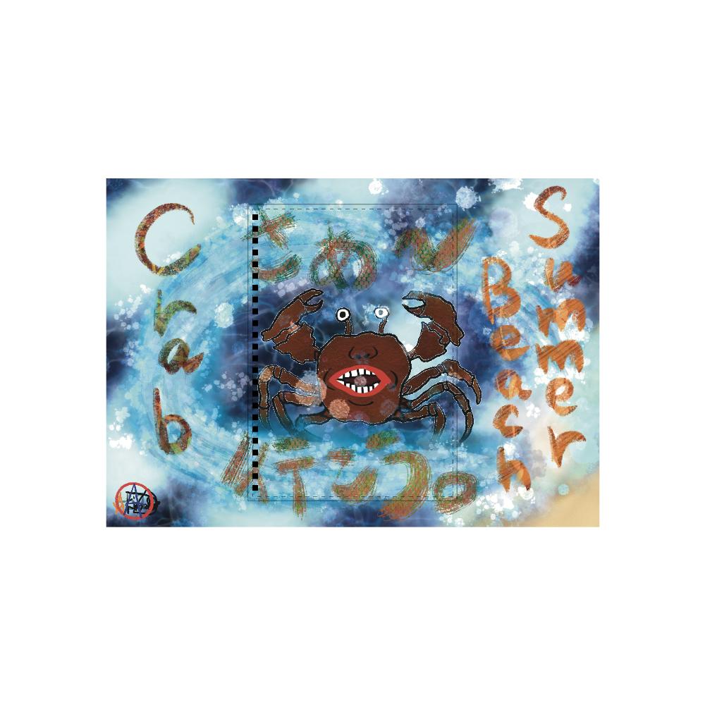 夏のビーチ「カニ」 ORILAB MARKET.Version.11 A5ノート