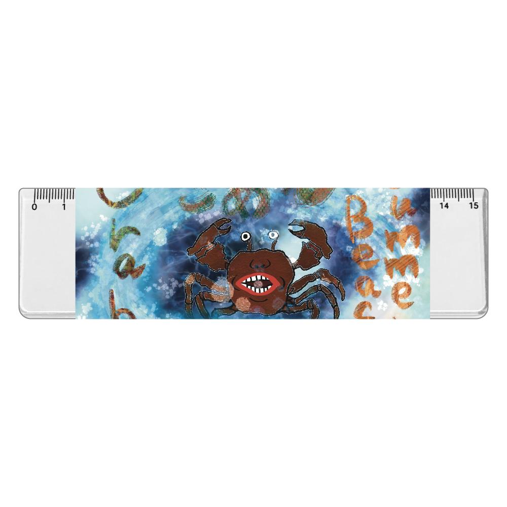 夏のビーチ「カニ」 ORILAB MARKET.Version.11 アクリルクリア定規