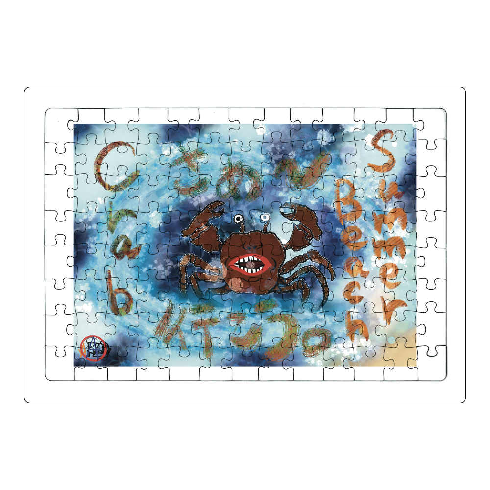 夏のビーチ「カニ」 ORILAB MARKET.Version.11 ジグソーパズル A4サイズ 104ピース