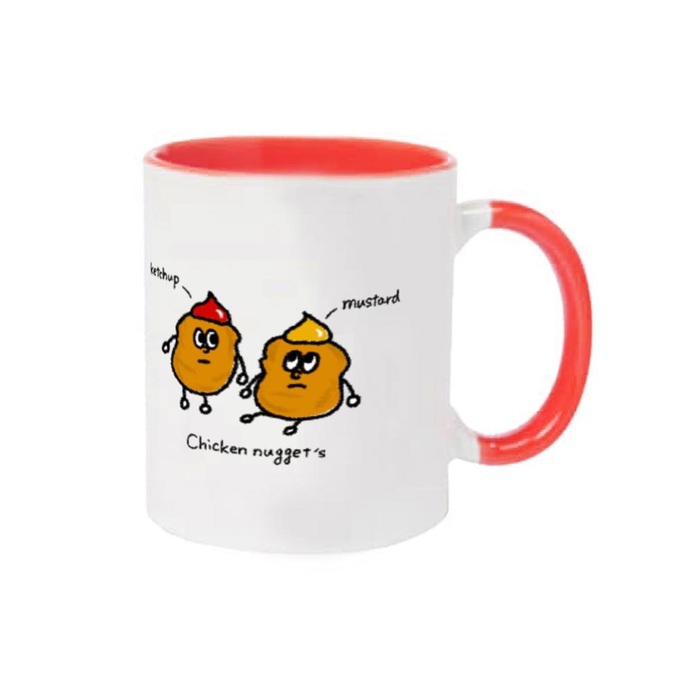 チキンナゲット マグカップ 2トーンマグカップ