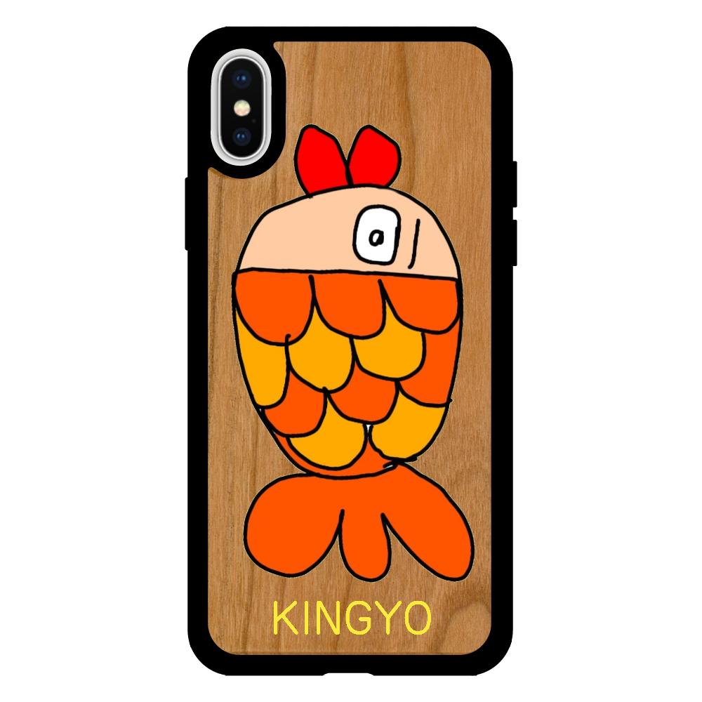 きんぎょちゃん iPhoneX/XS ウッドケース
