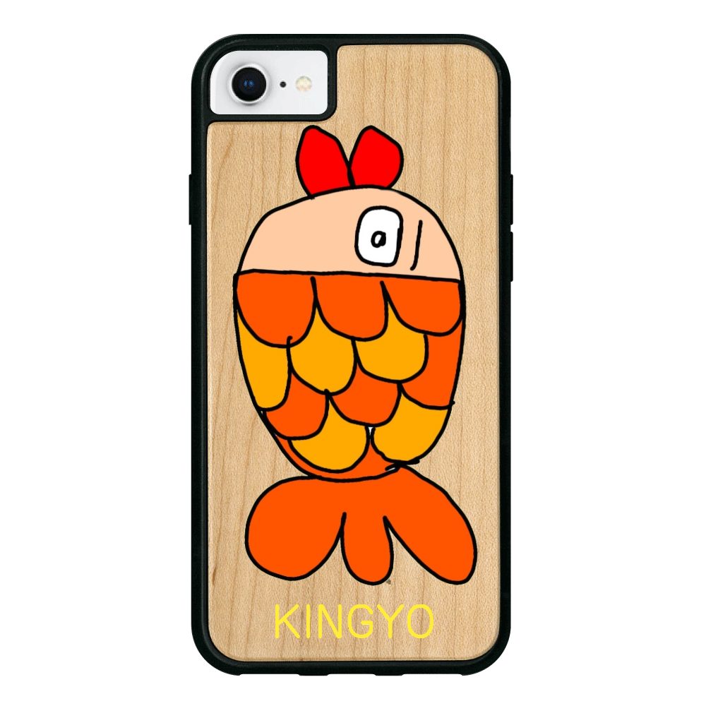 きんぎょちゃん iPhone8 ウッドケース