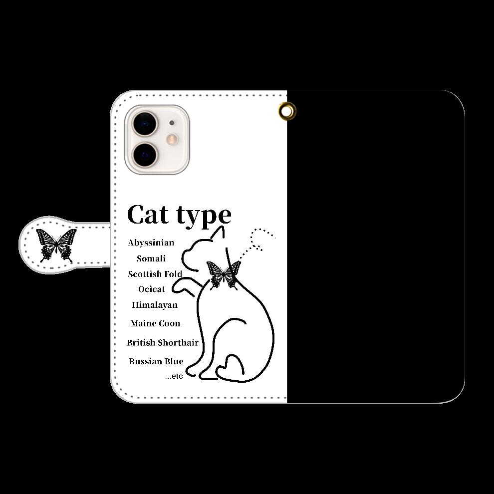 Cat iPhone12/12pro 手帳型スマホケース iPhone12/12pro 手帳型スマホケース