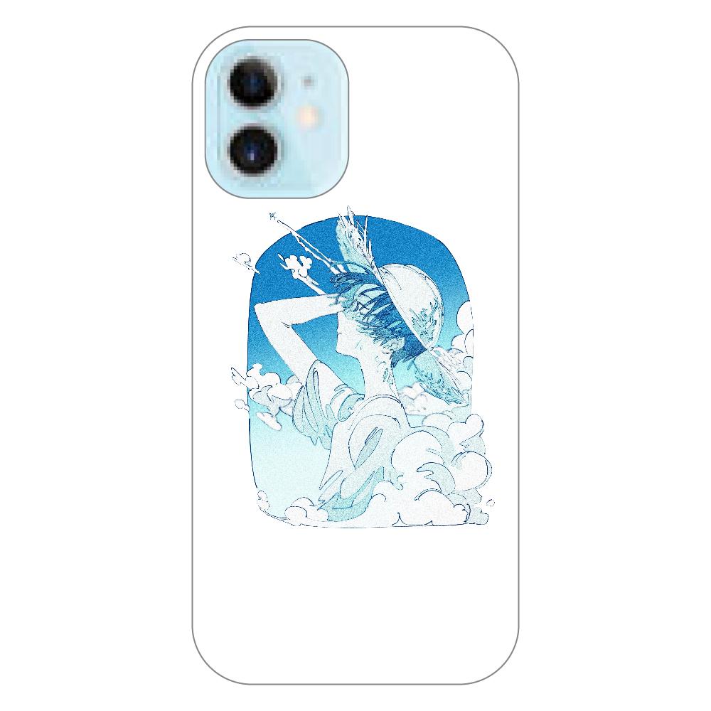 夏の風 スマホケース iPhone12 mini(透明)