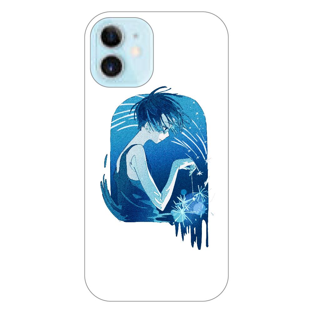 夏の星 スマホケース iPhone12 mini(透明)