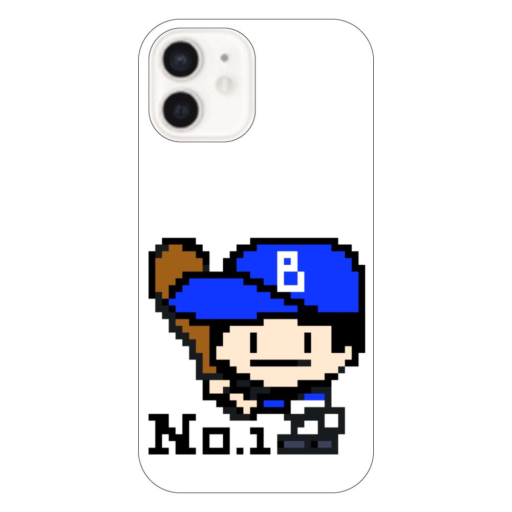 野球少年B -ピクセルアート- iPhone12(透明)