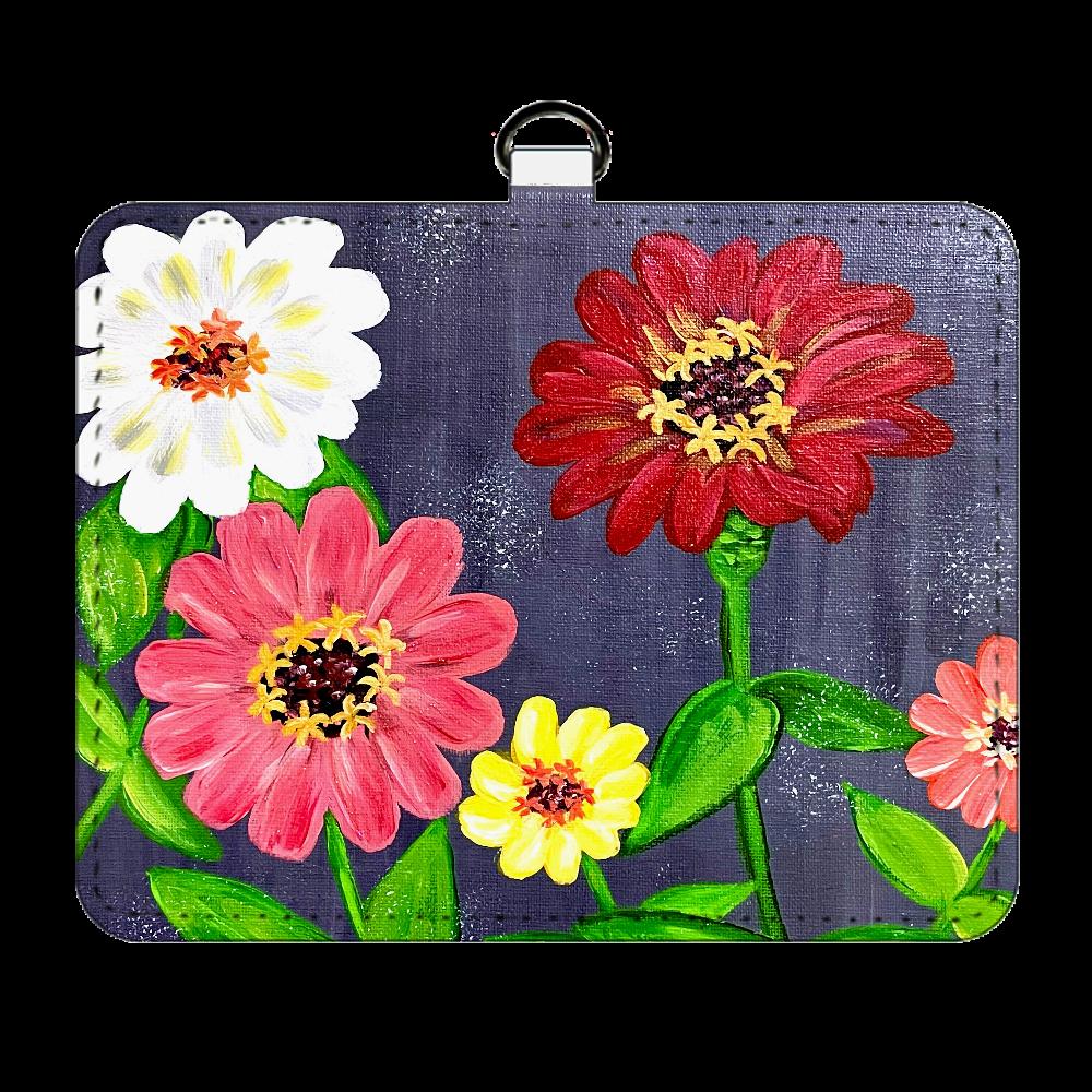 百日草*お花のパスケース パスケース