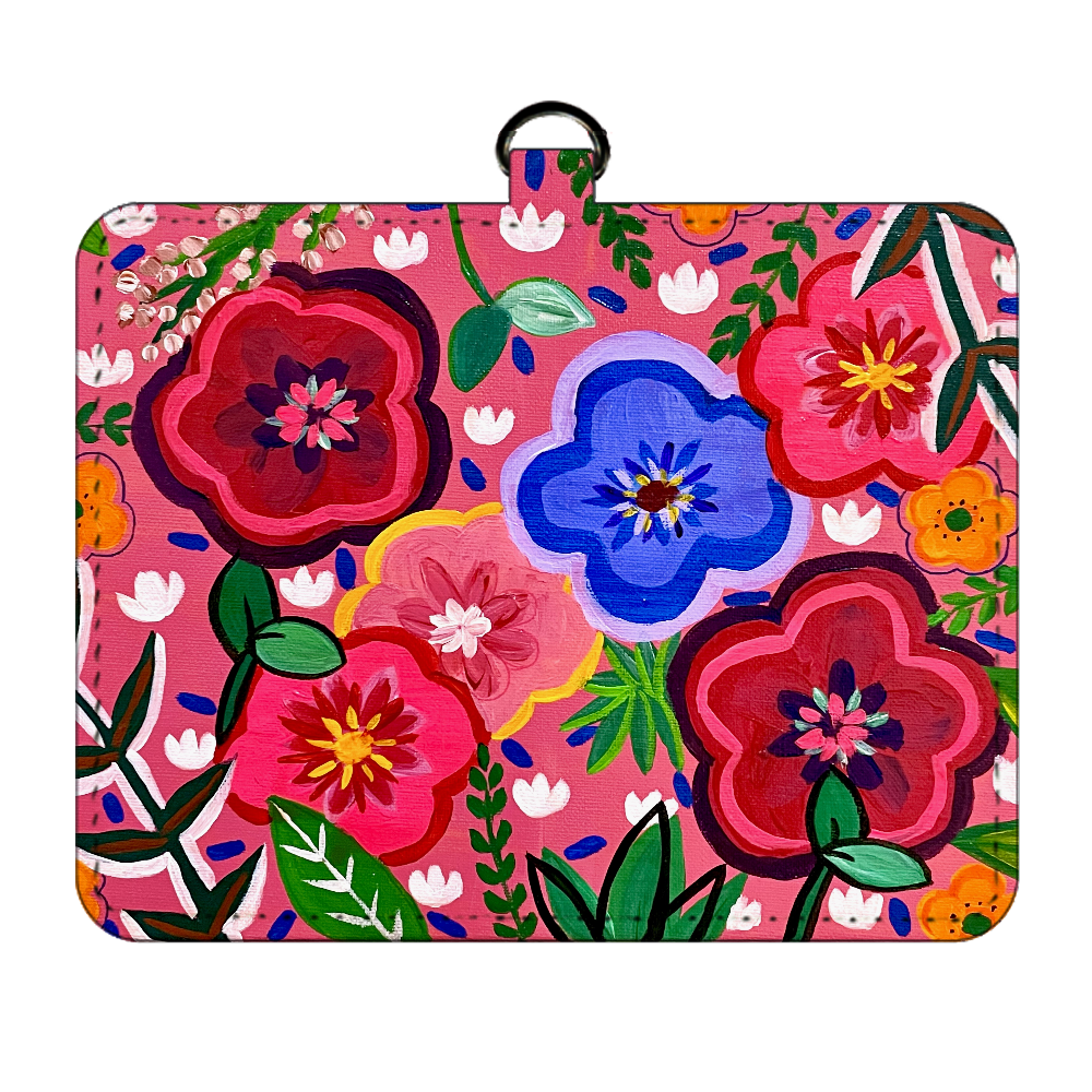POPな花柄のパスケース パスケース