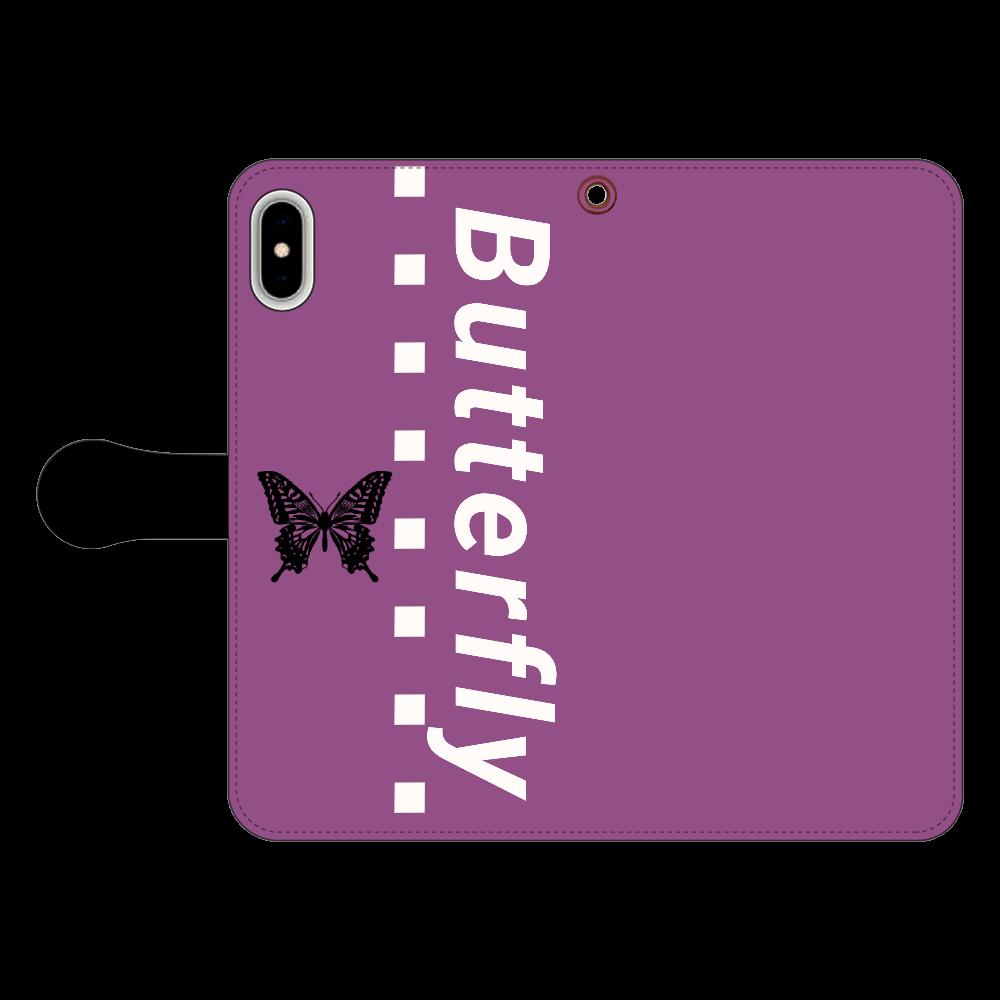 butterfly iPhone Xs MAX  手帳型スマホケース iPhone Xs MAX 手帳型スマホケース