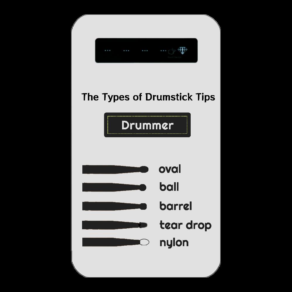 [全3種] The Types of Drumstick Tips インジケータ有バッテリー4000mAh