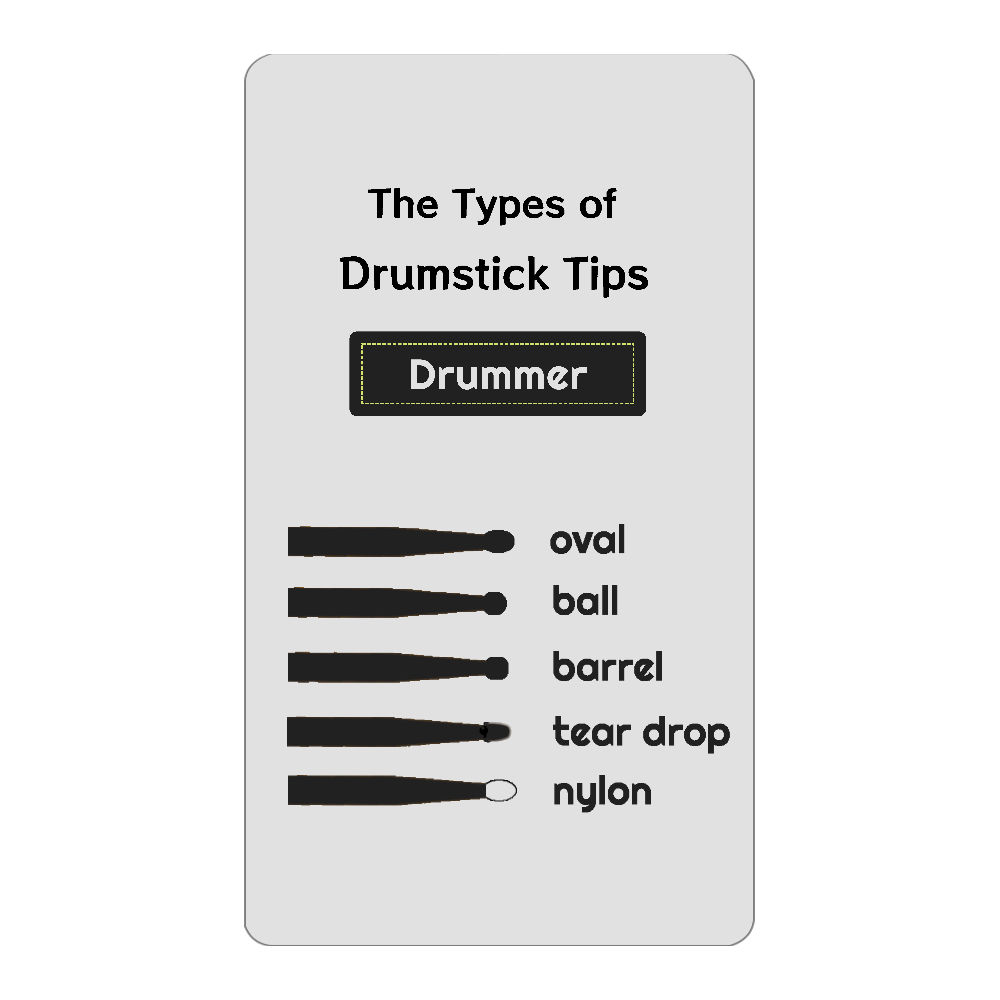 The Types of Drumstick Tips インジケータ無バッテリー4000mAh