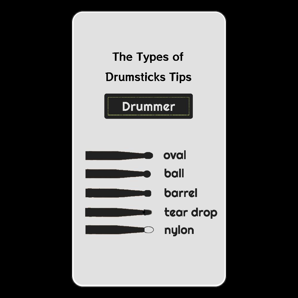 [全3種] The Types of Drumstick Tips ワイヤレス充電器