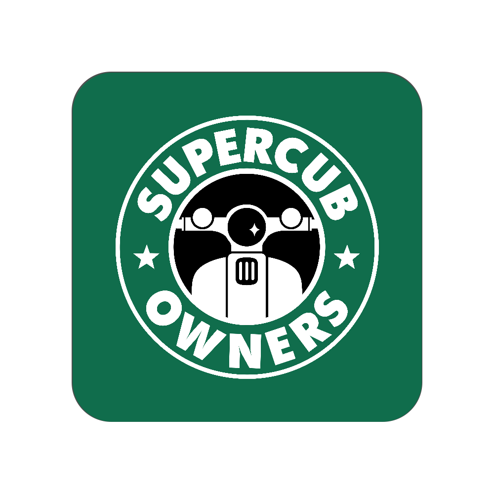 【パロディ】SUPER CUB OWNERS(スーパーカブオーナーズ) 全面プリントハンカチタオル