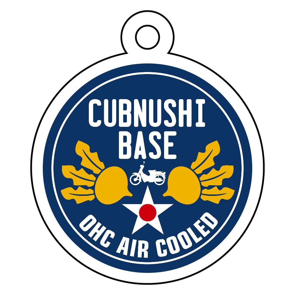 CUBNUSHI BASE カブ主ベース アクリルキーホルダー 丸型 (4cm)