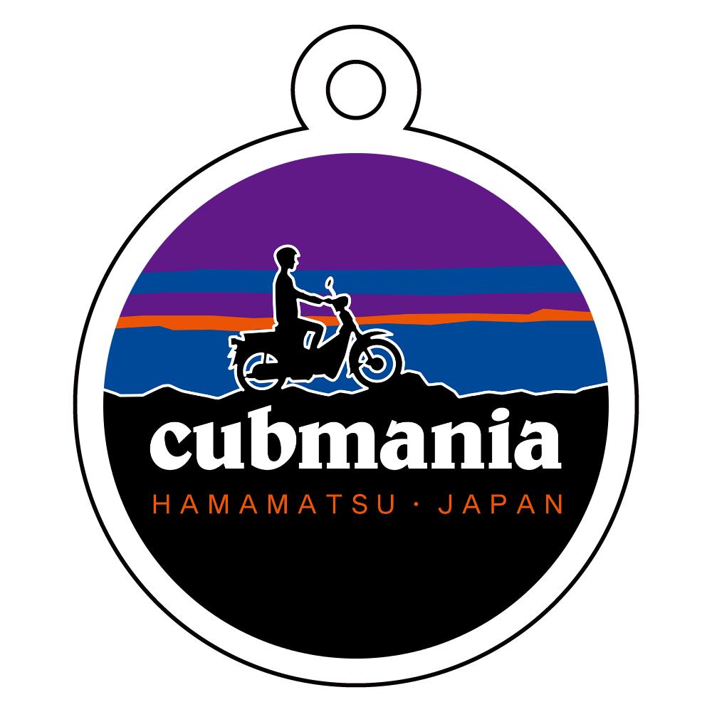 【パロディ】cubmania カブマニア スーパーカブ アクリルキーホルダー 丸型 (4cm)