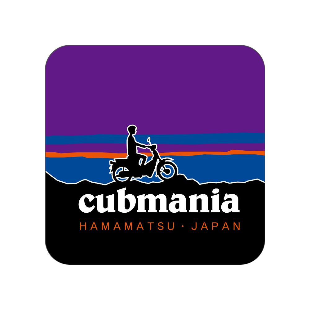 【パロディ】cubmania カブマニア スーパーカブ 全面プリントハンカチタオル