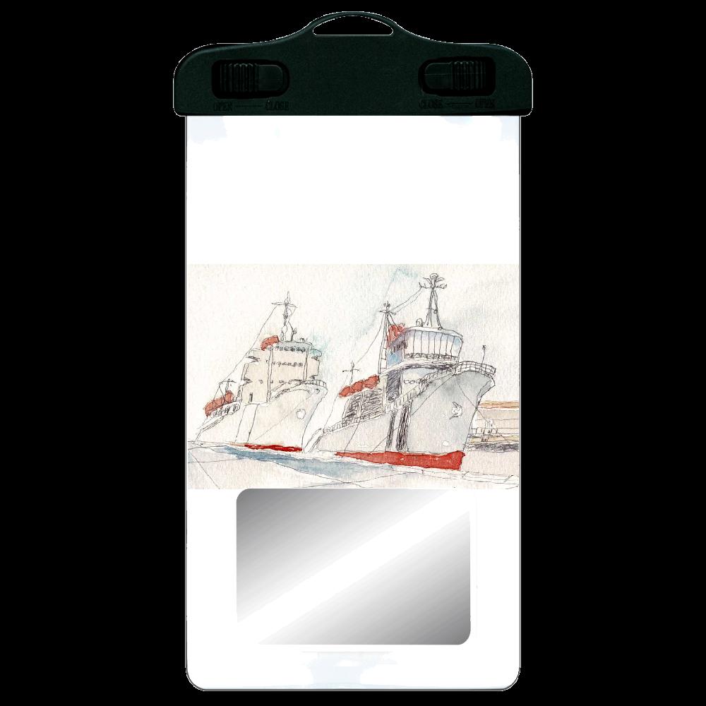 港の風景 防水スマホケース SPC06(防水スマホケース)