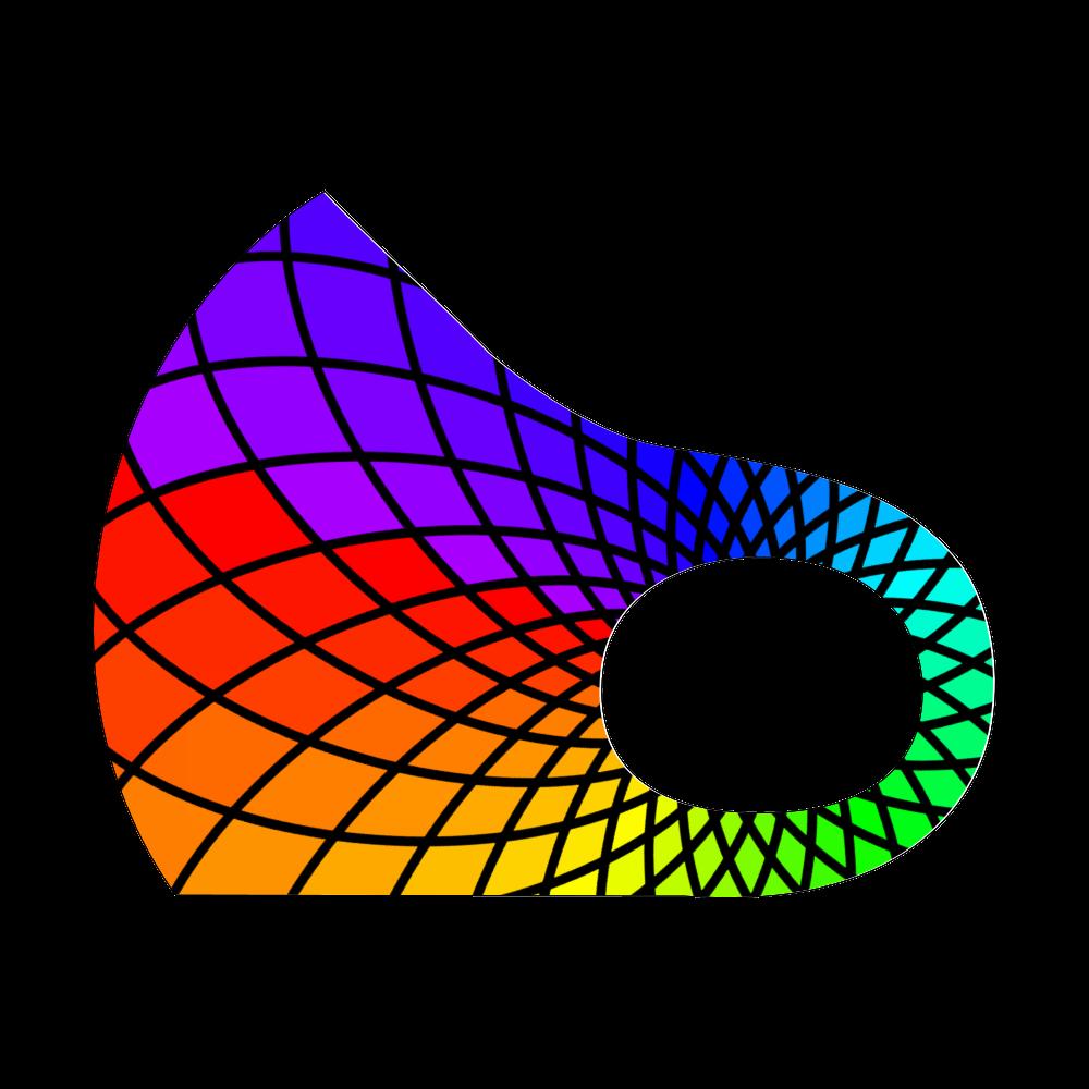 虹色デザイン スポーツマスク