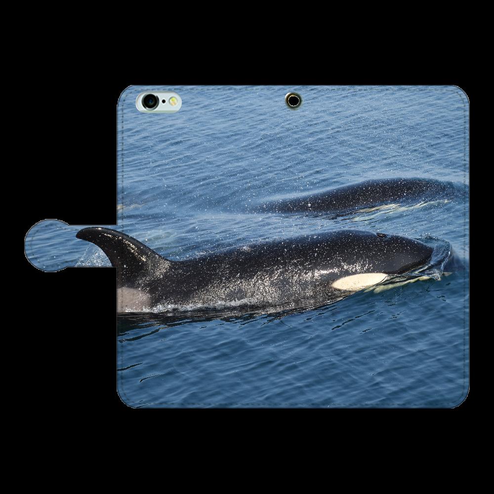 シャチ iPhone6Plus/6sPlus 手帳型スマホケース