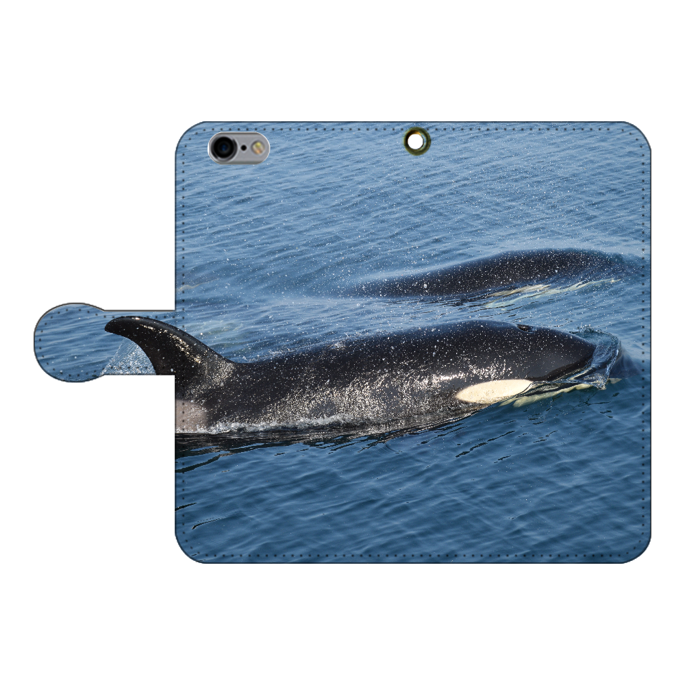 シャチ iPhone6/6s 手帳型スマホケース