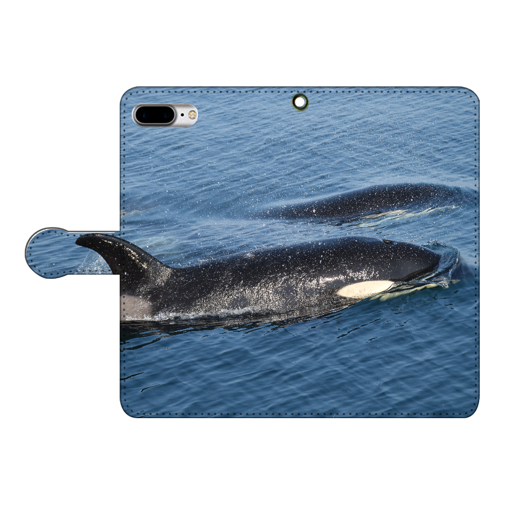 シャチ iPhone7plus 手帳型スマホケース