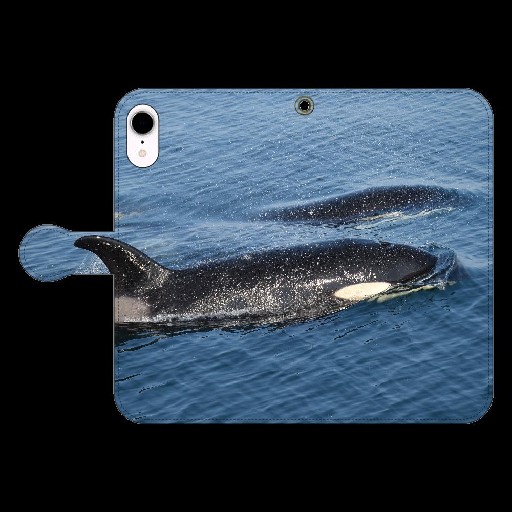 シャチ iPhone XR 手帳型スマホケース