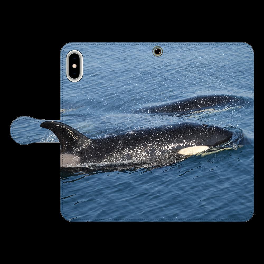 シャチ iPhone Xs MAX 手帳型スマホケース