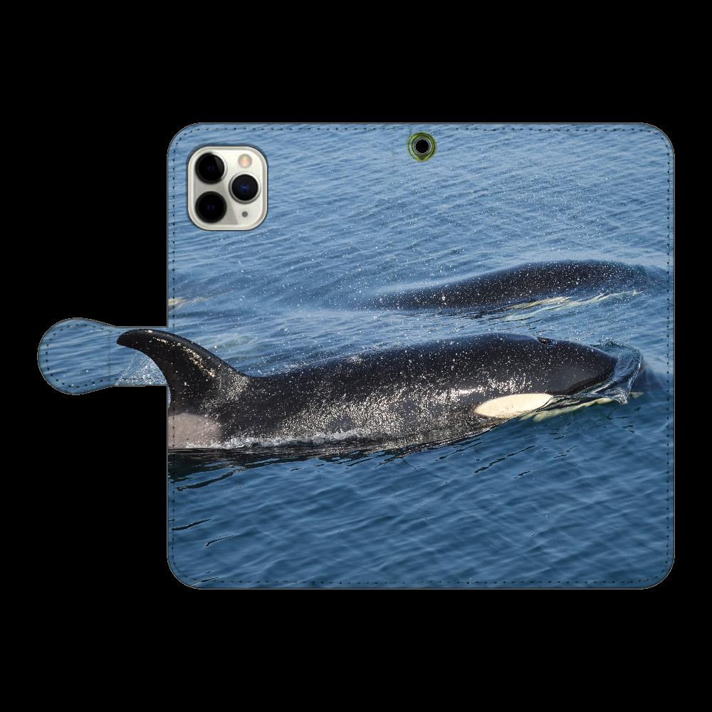 シャチ iPhone11 Pro MAX 手帳型スマホケース