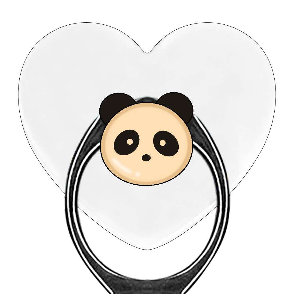 パンダパン スマホリング(ハート型)