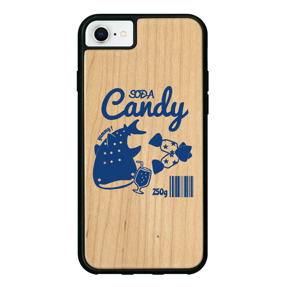 ソーダキャンディ iPhone8 ウッドケース