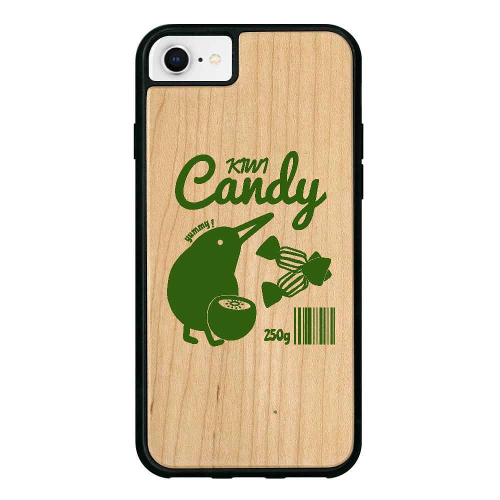 キウイキャンディ iPhone8 ウッドケース