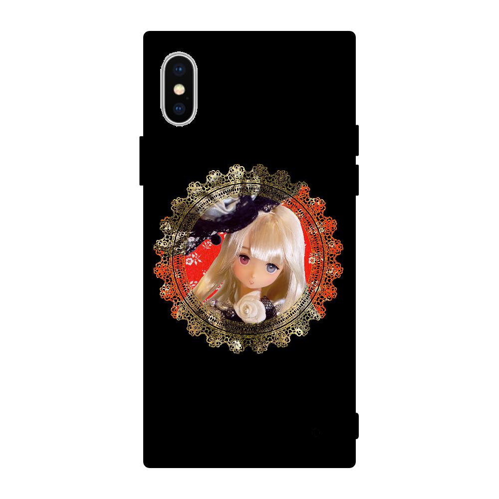 DOLLデザイン iPhoneX/XS 背面強化ガラス(スクエア)