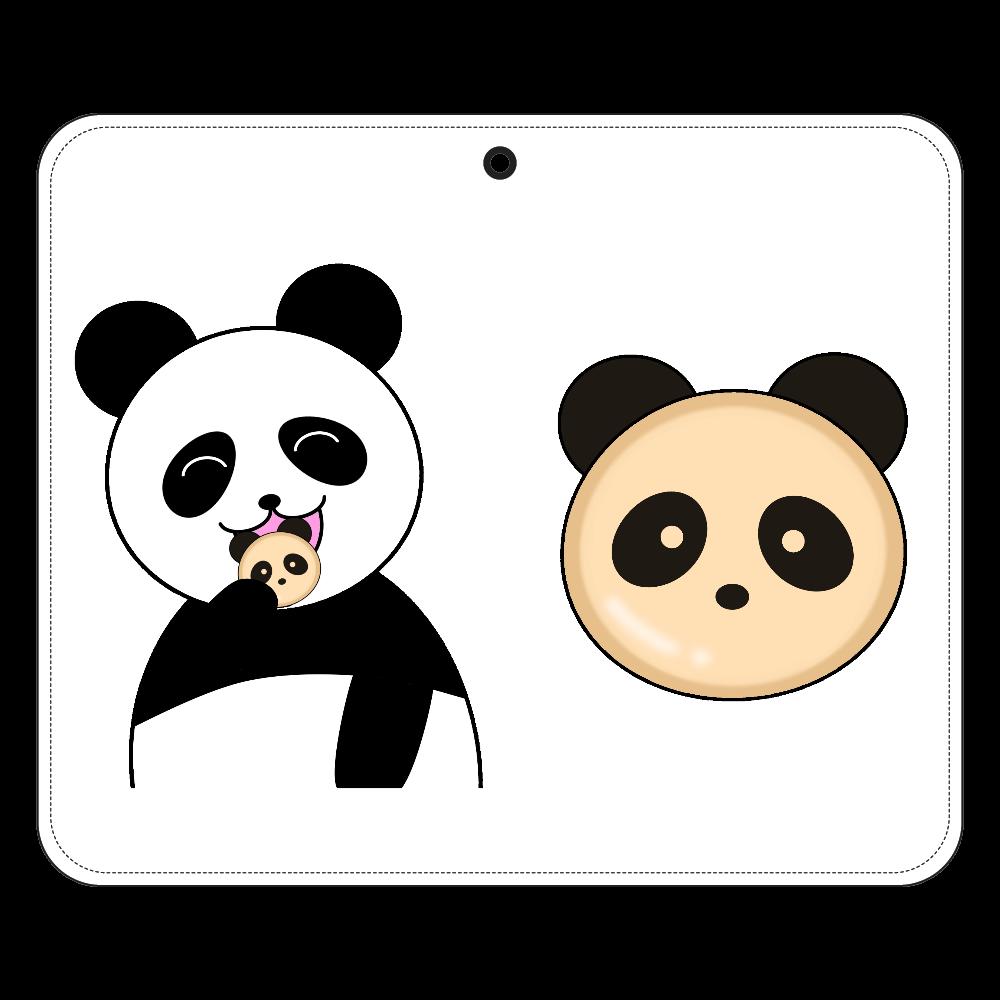 パンダパンとパンダ 帯なし手帳ケース(汎用マルチスライド式パーツ)M