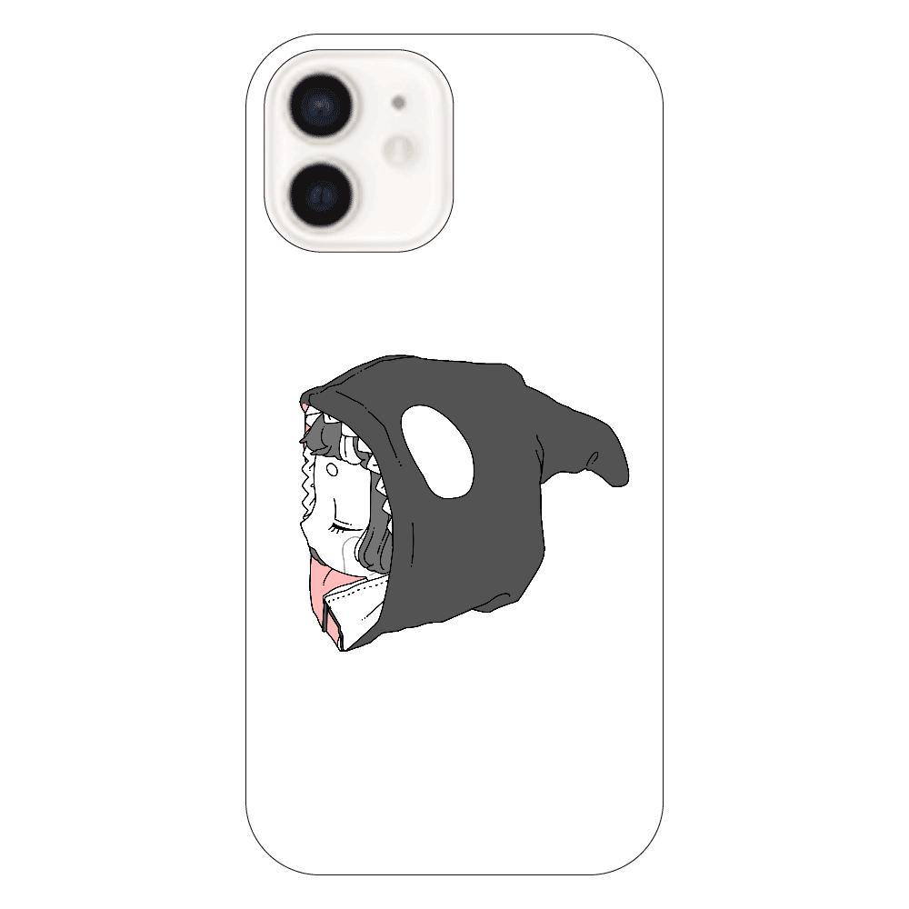 しゃちちゃんパーカーiPhone12ケース iPhone12(透明)