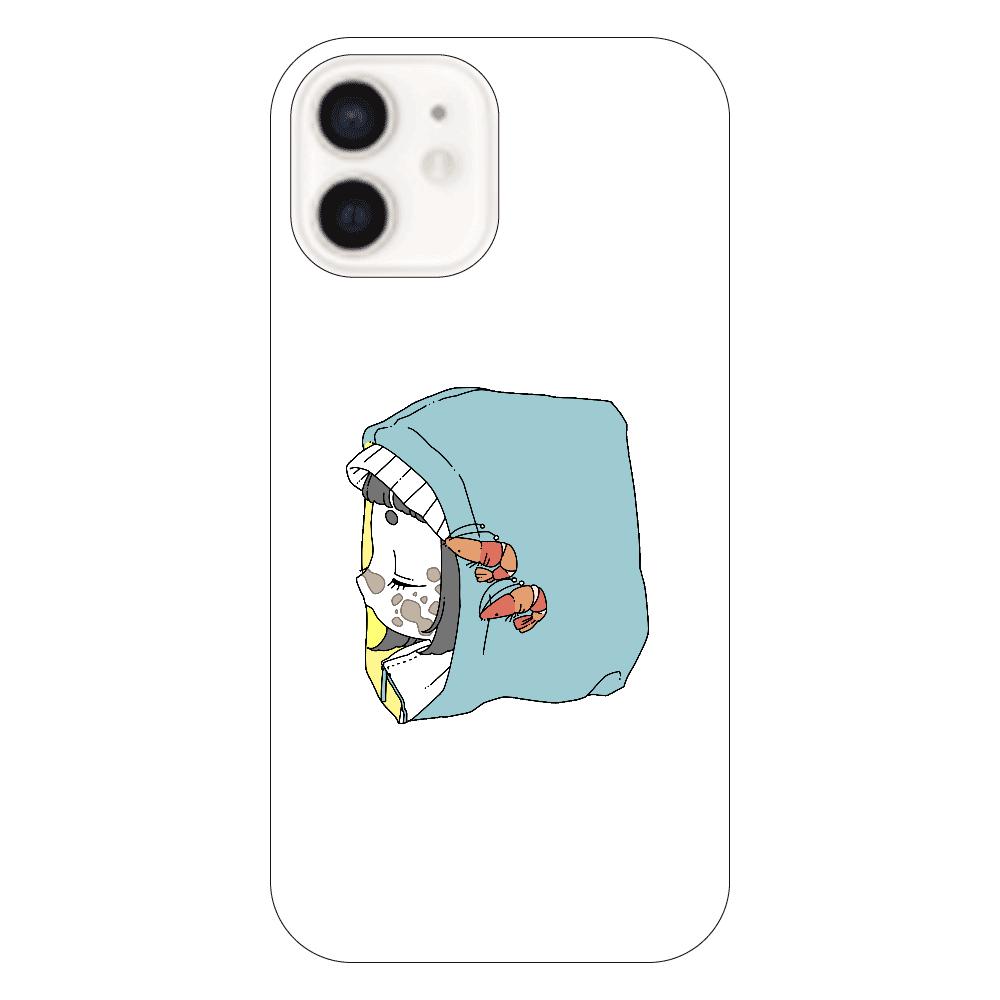 くじらちゃんパーカーiPhone12ケース iPhone12(透明)