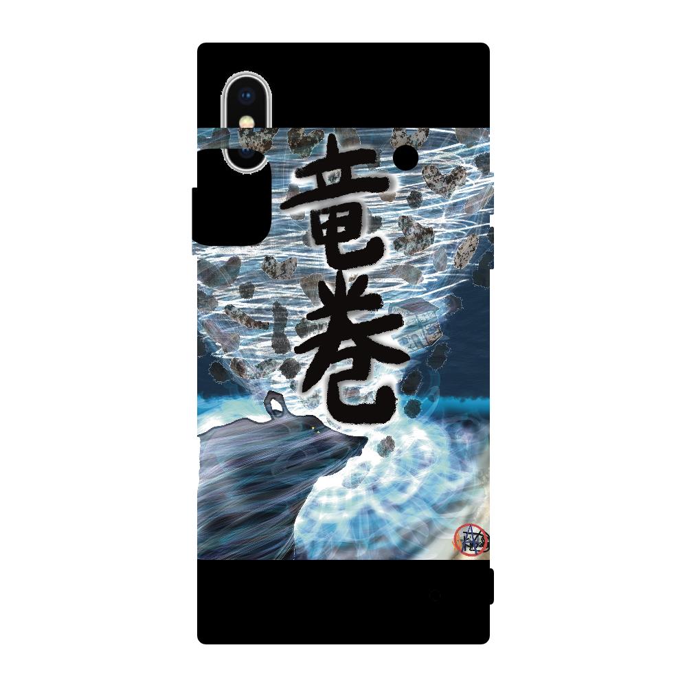 「竜巻」という名の気候変動 ORILAB MARKET.Version.7 iPhoneX/XS 背面強化ガラス(スクエア)