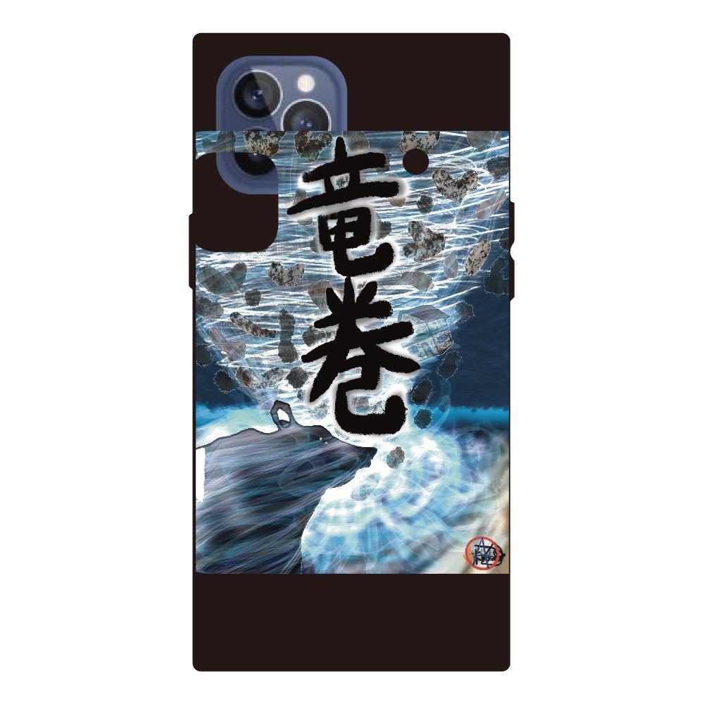 「竜巻」という名の気候変動 ORILAB MARKET.Version.7 iPhone12pro max 背面強化ガラス(スクエア)
