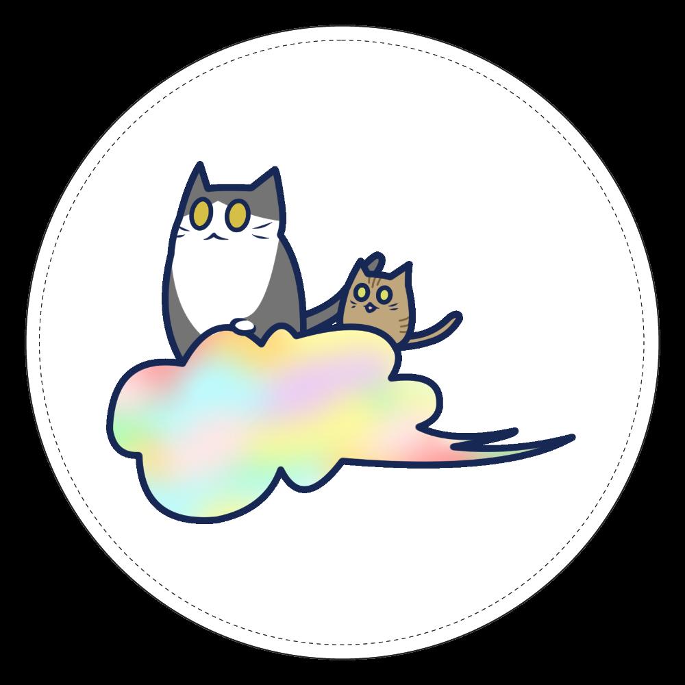 五色の雲と二匹の猫 コインケース コインケース