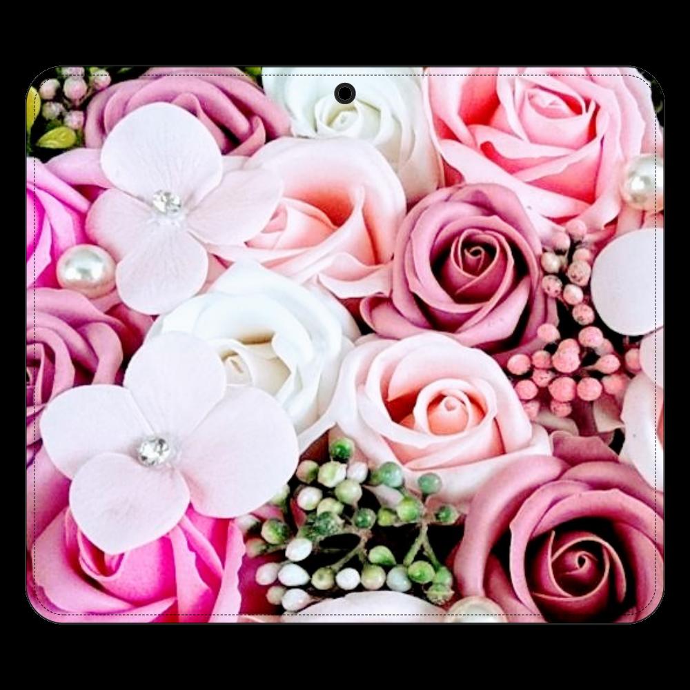 花柄デザイン 帯なし手帳ケース(汎用マルチスライド式パーツ)LLslim