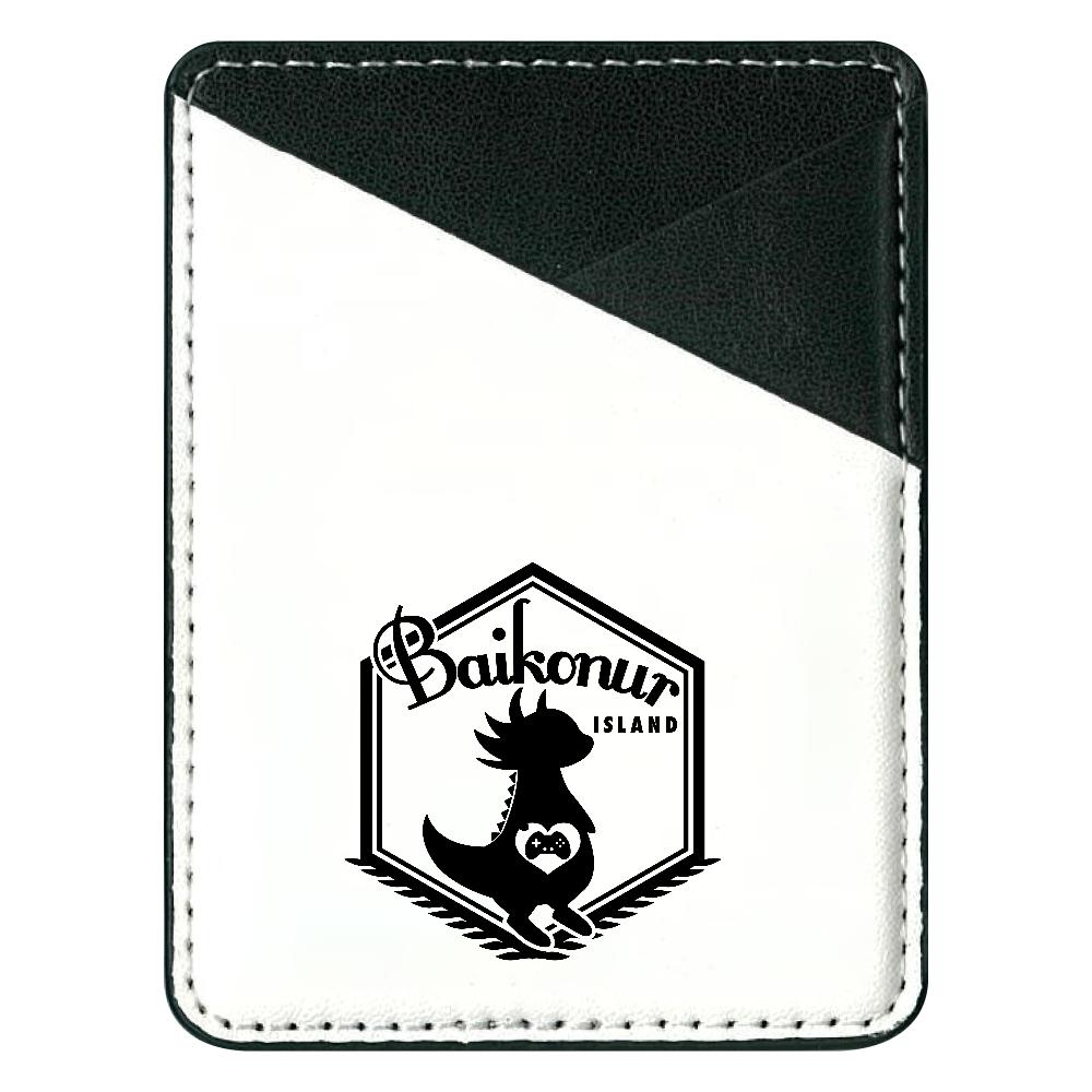Baikonur島ロゴB 貼り付けパスケース(スマホ用)