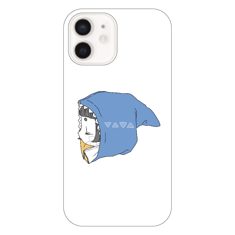さめちゃんパーカーiPhone12ケース iPhone12(透明)