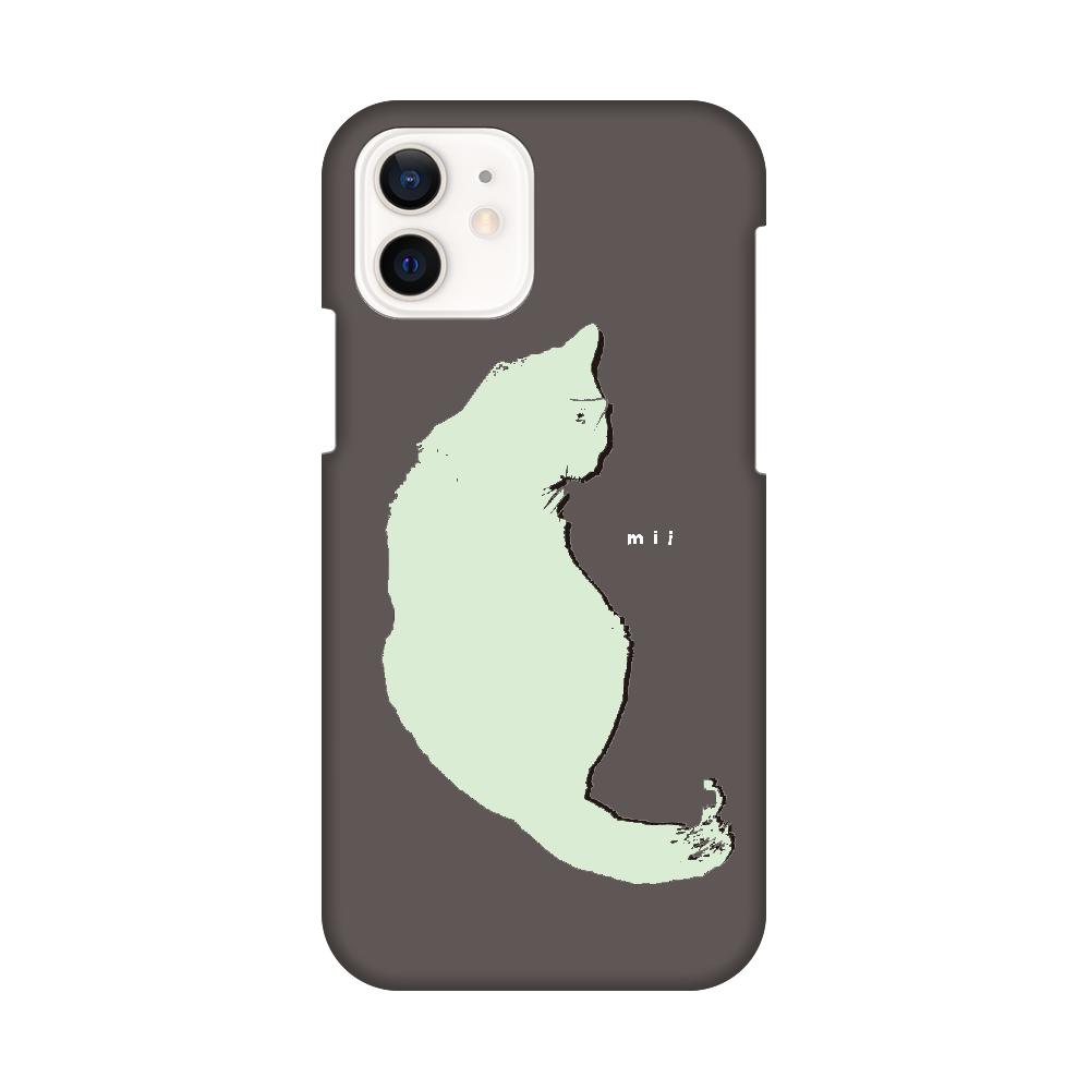 猫 シンプル モバイルカバー iPhone12 / 12 Pro