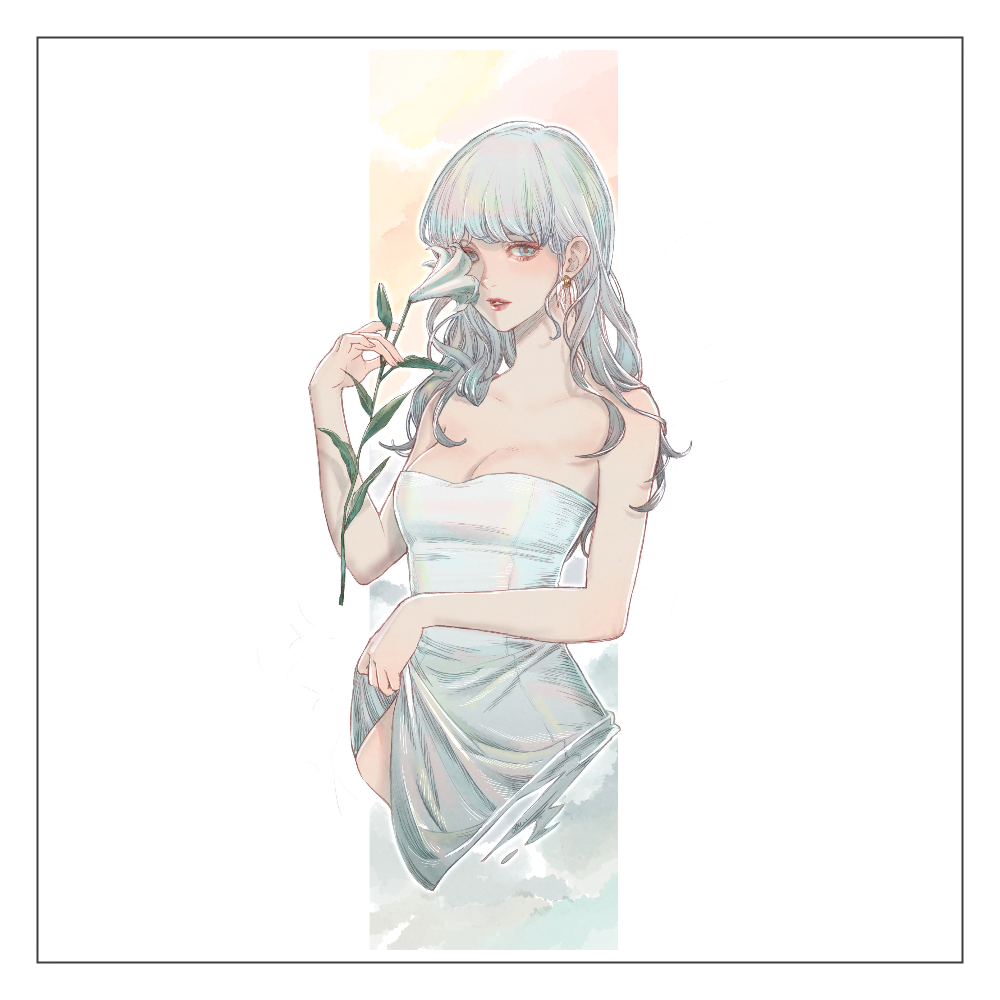 White lily アクリルブロック アクリルブロック
