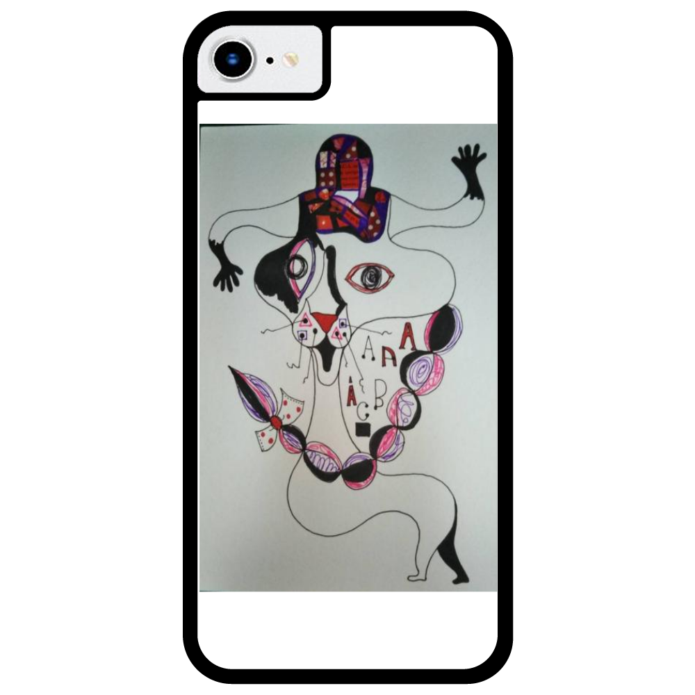 ●みつ編み猫● iPhone7_プリントパネルラバーケース