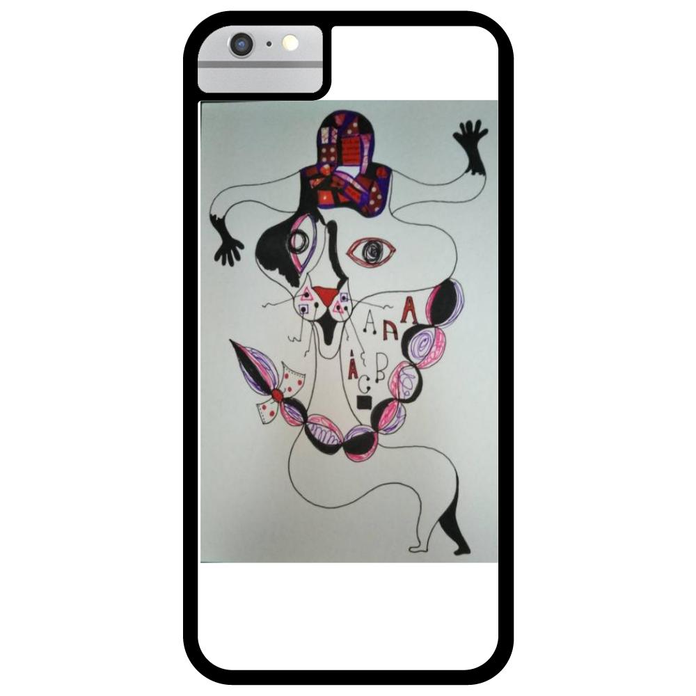 ●みつ編み猫● iPhone6_プリントパネルラバーケース