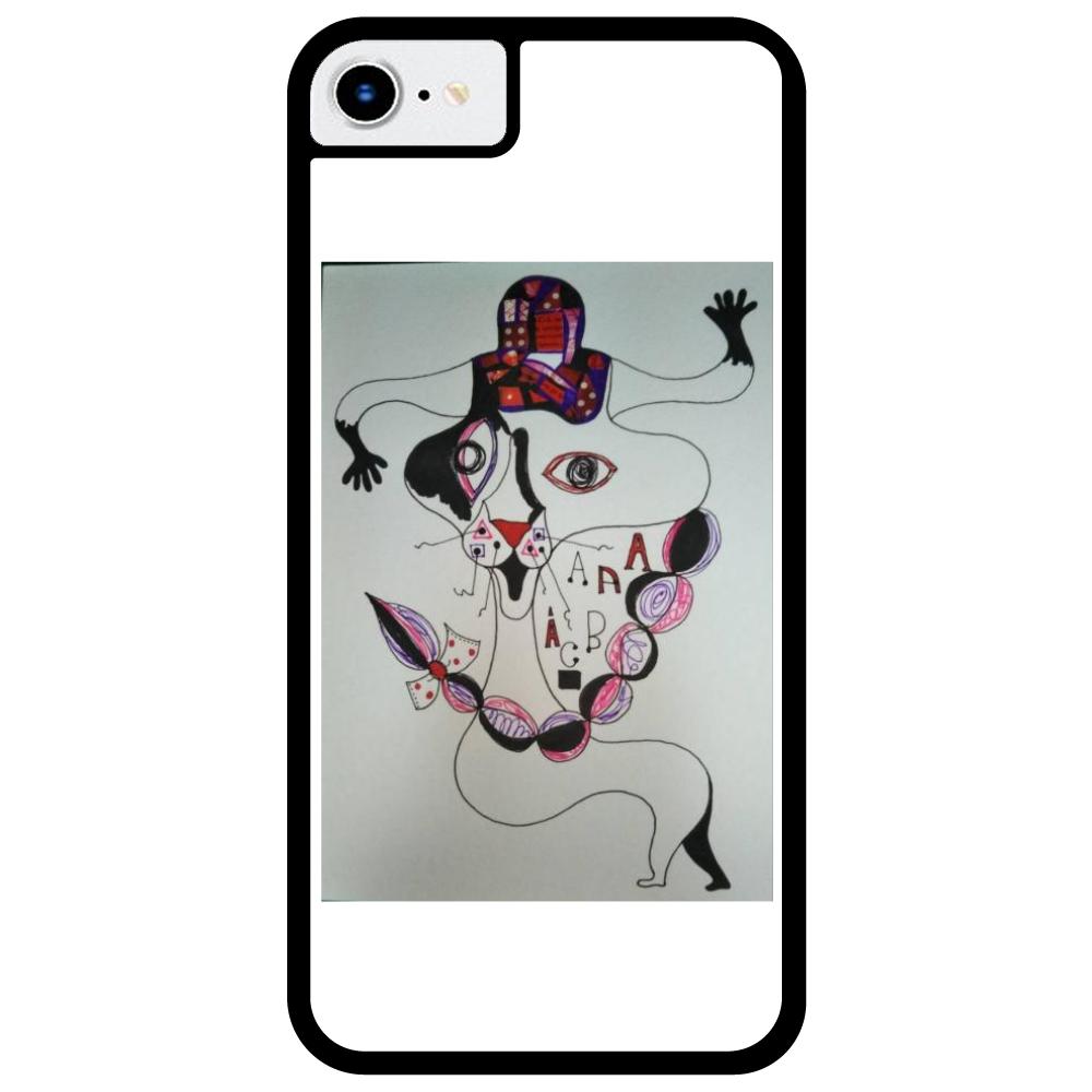 ●みつ編み猫● iPhone8_プリントパネルラバーケース