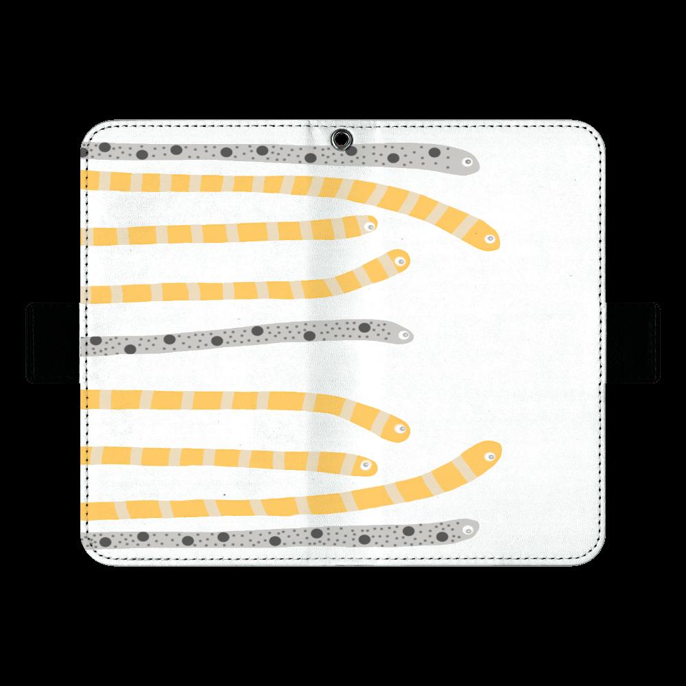 海の生き物チンアナゴデザイン 手帳ケース(汎用マルチスライド式パーツ)L