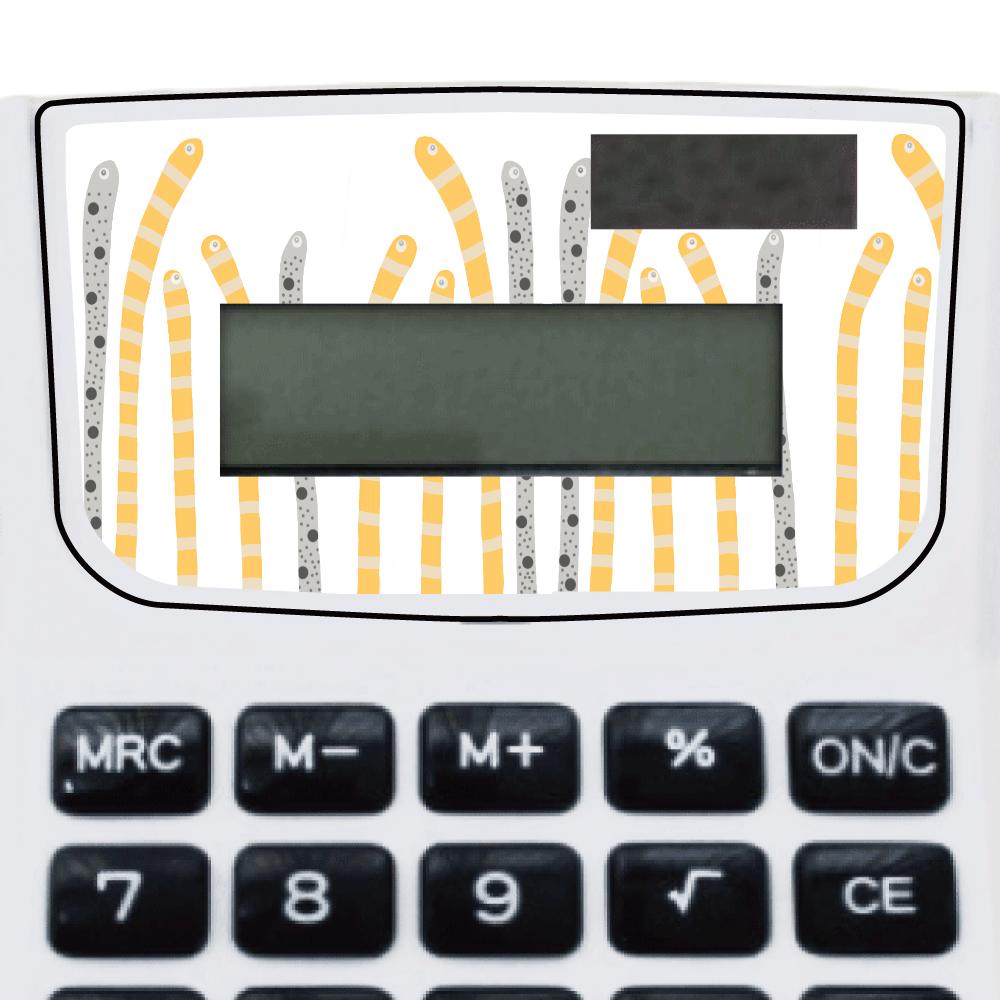 海の生き物チンアナゴデザイン 電卓